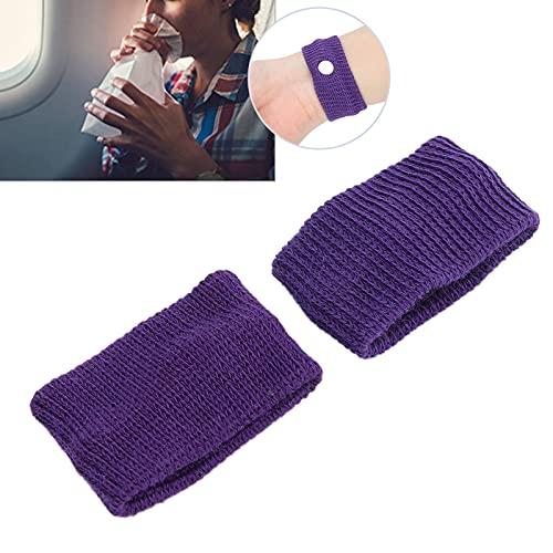 Pulsera de náuseas, pulsera de viaje para el mareo por movimiento conveniente para reducir las náuseas para adultos para niños para viajes(purple)