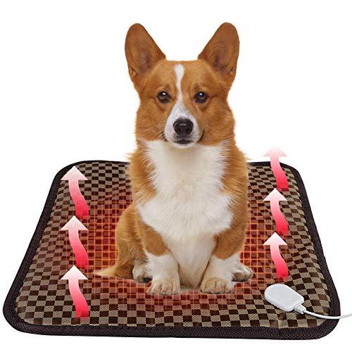 PINPOXE Haustiere Heizdecke, Wärmematte Heizkissen, Selbstheizende Decke für Katzen & Hunde, Thermomatte Umweltfreundliche Sicherheit wasserdicht Heizdecke, Katzendecke, Größe: 45x45cm