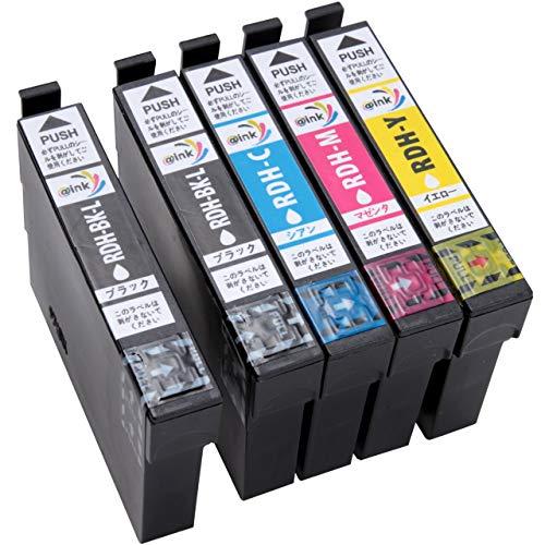 エプソン-EPSON用 RDH-4CL-5個セット(BK×2-C-M-Y) 対応機種(PX-048A/PX-049A) プリンターインク 【@ink】-増量タイプ-互換インク-リコーダー-残量表示機能付 (単品) (単品)