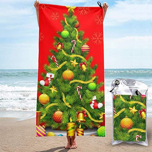 Abel Berth Schnelltrocknendes Handtuch für Reisen Strand Bad Schwimmen Camping - Weihnachtsbaum Geschenke Rote Mikrofaser Schnelltrocknende Schwimmen Strandtücher 27.5