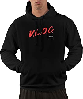 SINGKING Black Man Pullover Hoodie Sweatshirt David-Dobrik-Clickbait- Fleece Long Sleeve