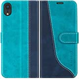 Mulbess Funda para iPhone XR, Funda con Tapa iPhone XR, Funda iPhone XR Libro, Funda Cartera para iPhone XR Carcasa, Azul Mint