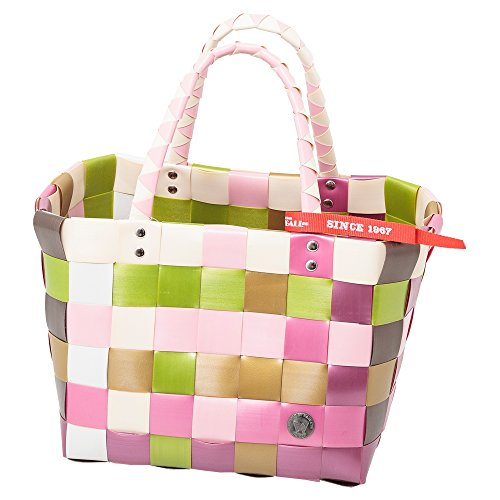 Witzgall Ice Bag Mini Shopper 5008-39 Weiß/Rosa/Hellgrün, ca. 29x22x22 cm