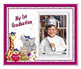 Prek Graduation Kindergarten Preschool Graduation Picture Frame | Colorful and Fun | Holds 3.5 x 5 Photo | First Graduation Keepsake Gift | Innovative Front-Loading Photo | Friends Design