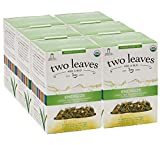 Two Leaves and a Bud Organic Energize Tea Bags, Green Tea for Endurance, Whole Leaf Green Tea in Sachets, 15 Count (Pack of 6)