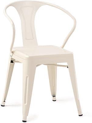Amazon.com: Costway Tolix - Juego de 2 sillas de comedor de ...