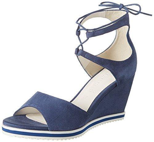 GERRY WEBER Adriana 04, Sandales Plateforme Femme, Bleu (Jeans), 37 EU