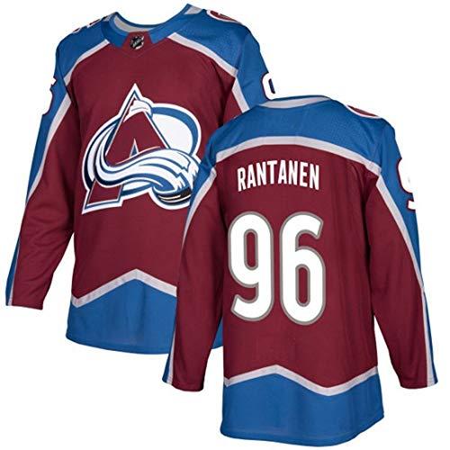 NHL Hockey Jersey Avalanche Mannschaft Männer Sweatshirts # 29# 96# 92 gestickte Ice Jersey Breath Langarm-T-Shirt,#96 Brown,M/50