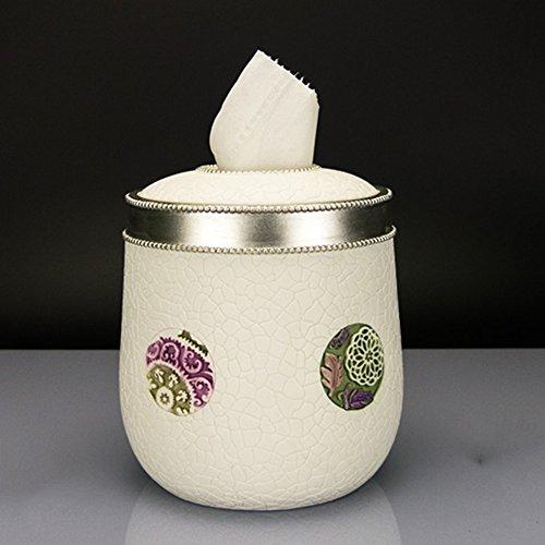 Creative Pastoral Paper Box Salle de bains en résine Cylindre Boîte à tissus Salle de vie Salle de pompage Carton ( Couleur : 2 )