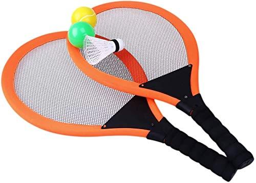 RENFEIYUAN 2 stücke Badminton Tennisschläger Kinder Kinder Sport Parentchild Sports Pädagogisches Sport Spiel Spielzeug Orange Badminton Sets