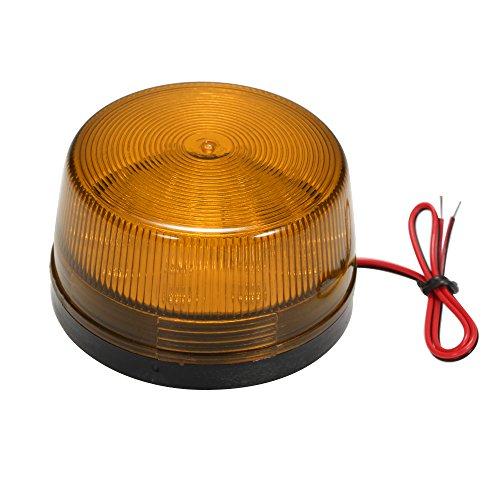 OWSOO Alarm Licht LED Verdrahtetes Alarm-Röhrenblitz Signal Sicherheit warnendes LED-Licht blinkt,wasserdichtes 12V 120mA sicher Sicherheit für Warnungssystem, Orange