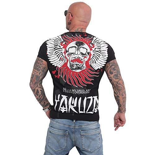 Yakuza Herren Burning Skull T-Shirt