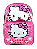 Hello Kitty Pink Backpack 16' Large with Removable Lunch Bag