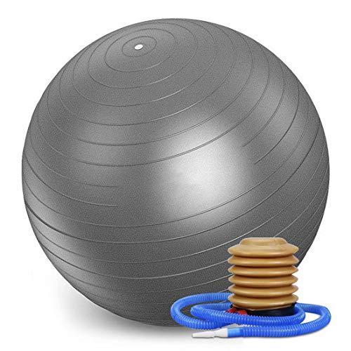 55cm Pelota de Gimnasio para Ejercicio (Varios tamaños y Colores) para la Estabilidad y la Yoga,Gris