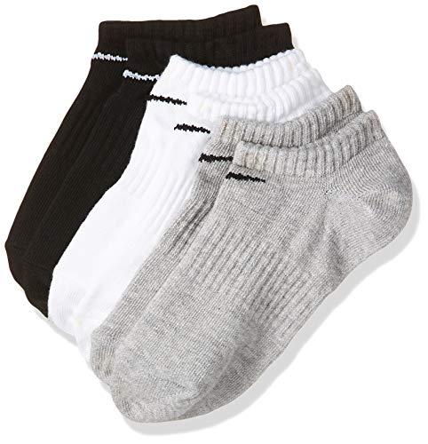 NIKE U NK Everyday Ltwt Ns 3Pr Socks, Unisex adulto, WhBlk/ DghBlk/ BlkWh, L
