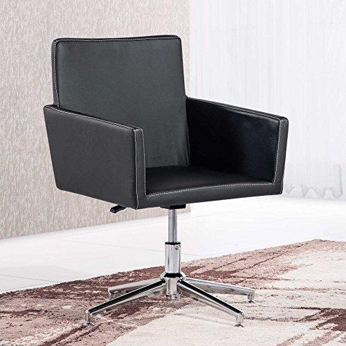 Butaca - Silla de escritorio para despacho modelo QUICK base fija color negro – Sedutahome