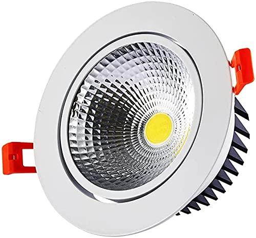 PJDOOJAE COB Embedded Techo COB Techo Ultra-Thin LED Luz de Techo Luz Empotrada LED LED Luces de Techo 5W Downlights Ajustable Ángulo de Luz Foco Luces Cortar 60-90mm Efecto Redondo Luces CRI 80 para