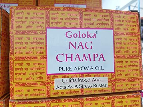 Goloka Pure aroma Oil - Nag Champa 12x10ml