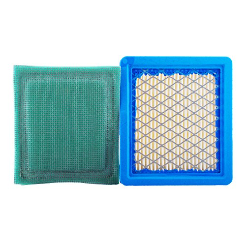 Poweka 36046 Air Filter Fits for Tecumseh 740061 4 & 5.5 Hp Engines Ohh60 Ohh65 Oh195 Oh95 Ohh50 Ohh55 Vlv50 Vlv55 Vlv60 Vlv66 Vlv126 Replace Stens 100-450 with 36634 Pre Filter