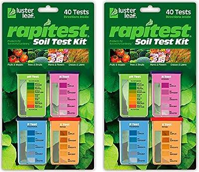 Luster Leaf 1601 Rapitest Test Kit for Soil pH, Nitrogen, Phosphorous and Potash, 2 Pack