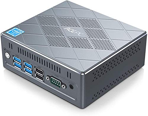 "ACEPC CK6 Mini PC,Intel Core i5-5257U,8GB RAM +120GB ROM,Windows 10 Pro,Unterstützung 2.5"" SATA SSD/HDD/4K/2.4G+5G WiFi/Bluetooth 4.2,HDMI/VGA/DP/6* USB/2*LAN/RS232 Industrial Mini Desktop Computer"