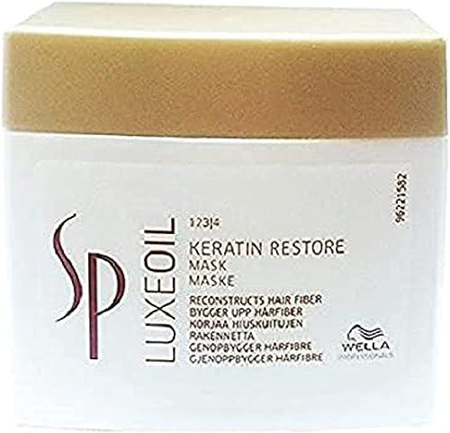 Wella SP System Professional Luxeoil Keratin Restore Mask, 1er Pack, (1x 400 ml)