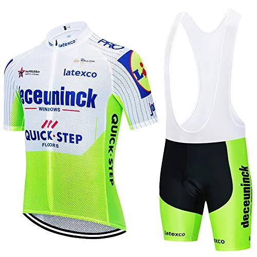 UIMED Maillot de ciclismo de manga corta para hombre + Shorts de ciclismo Cojín de asiento con correa