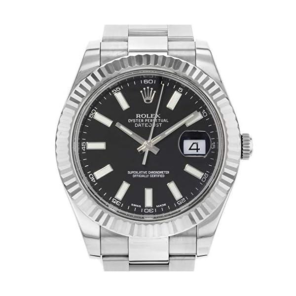 Fashion Shopping Rolex Datejust II 41 116334 Black Dial Men's Luxury Watch