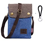 Mini Bolso De Teléfono Móvil Bandolera Mujer Niña Pequeño Bolsa De Hombro Embrague Con Correa De Muñeca Para IPhone X 8 Plus 7 Plus Samsung Galaxy S9 Plus S8 Plus S9 S8 + Hengying Llavero