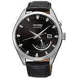 Seiko Homme 42MM Bracelet Cuir BOITIER Acier Inoxydable Quartz Montre SRN045P2