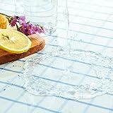 LC&TEAM Transparente Tischdecke Tischfolie Glasklar Folie 2 mm PVC Abwaschbar Hochglanz Schutzfolie Tischschutz Durchsichtig Tischschoner 40x100 cm - 4
