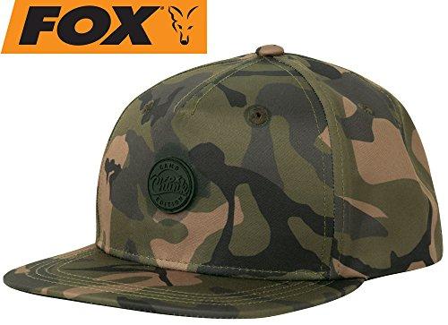 Fox Chunk Camo Edition Snapback - Angelcap für Karpfenangler, Cappy für Angler, Angelmütze, Anglercap, Schirmmütze, Basecap