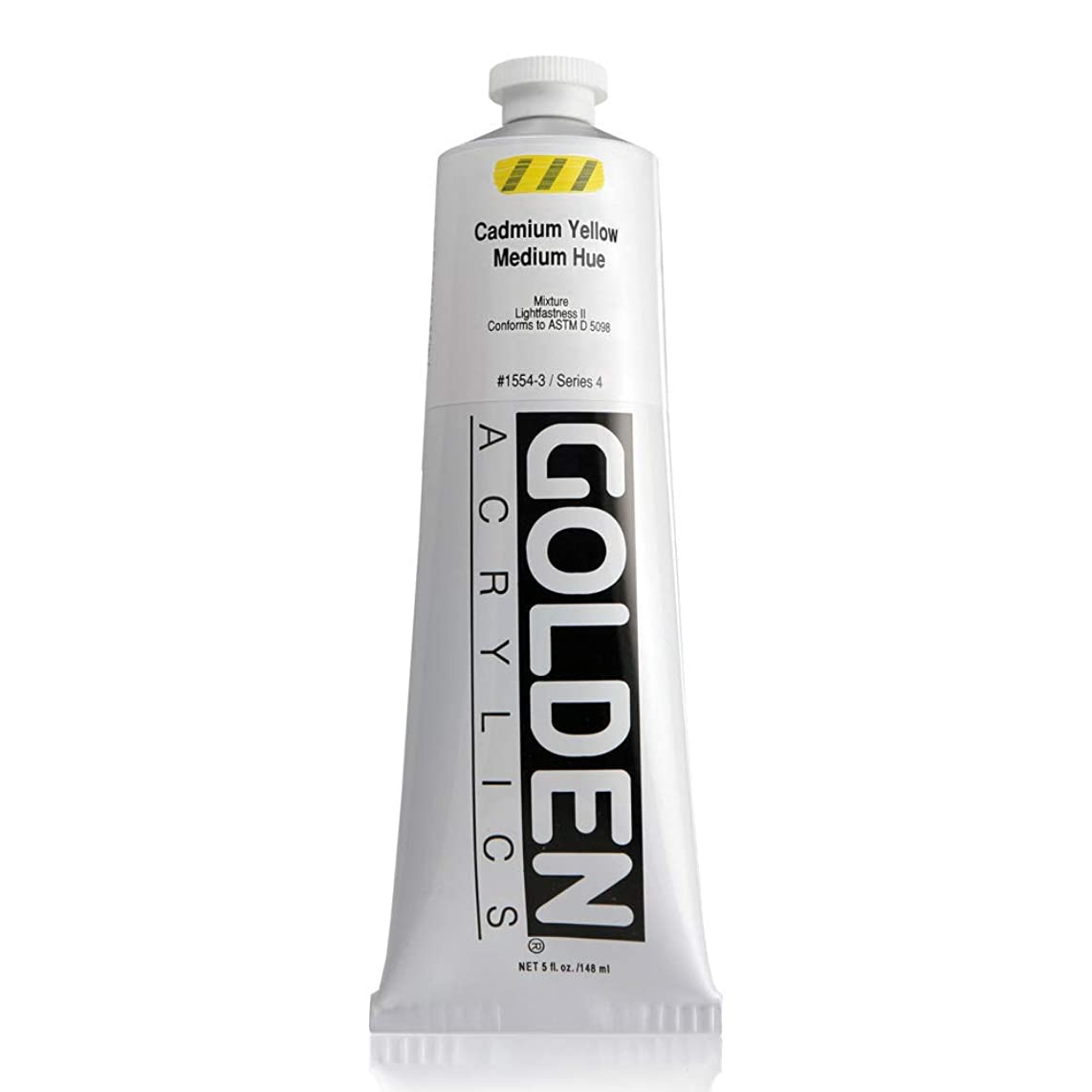 Golden Heavy Body Acrylic - Cadmium Yellow Medium Hue - 5 oz Tube