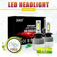 Kit de conversión de faros LED 100W H7 12000LM, faros de luz alta o baja, luz de niebla DRL, reemplazo de luz de cabeza halógena o HID, 6500K xenón blanco, 1 par- 1 año de garantía