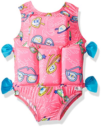 My Pool Pal Baby Girls Flotation Swimsuit, Pink Sunglasses, Extra Small