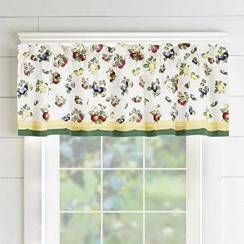 "Villeroy and Boch French Garden Window Curtain Kitchen Valance, 60"" x 15"" (1, Multi"