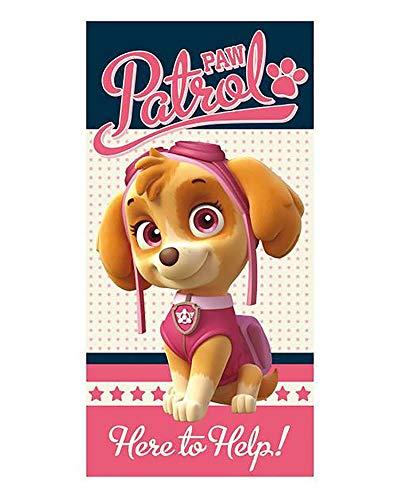 profesional Toalla de Playa Patrulla Canina, Paw Patrol 70x140cm Poliester (Skye)