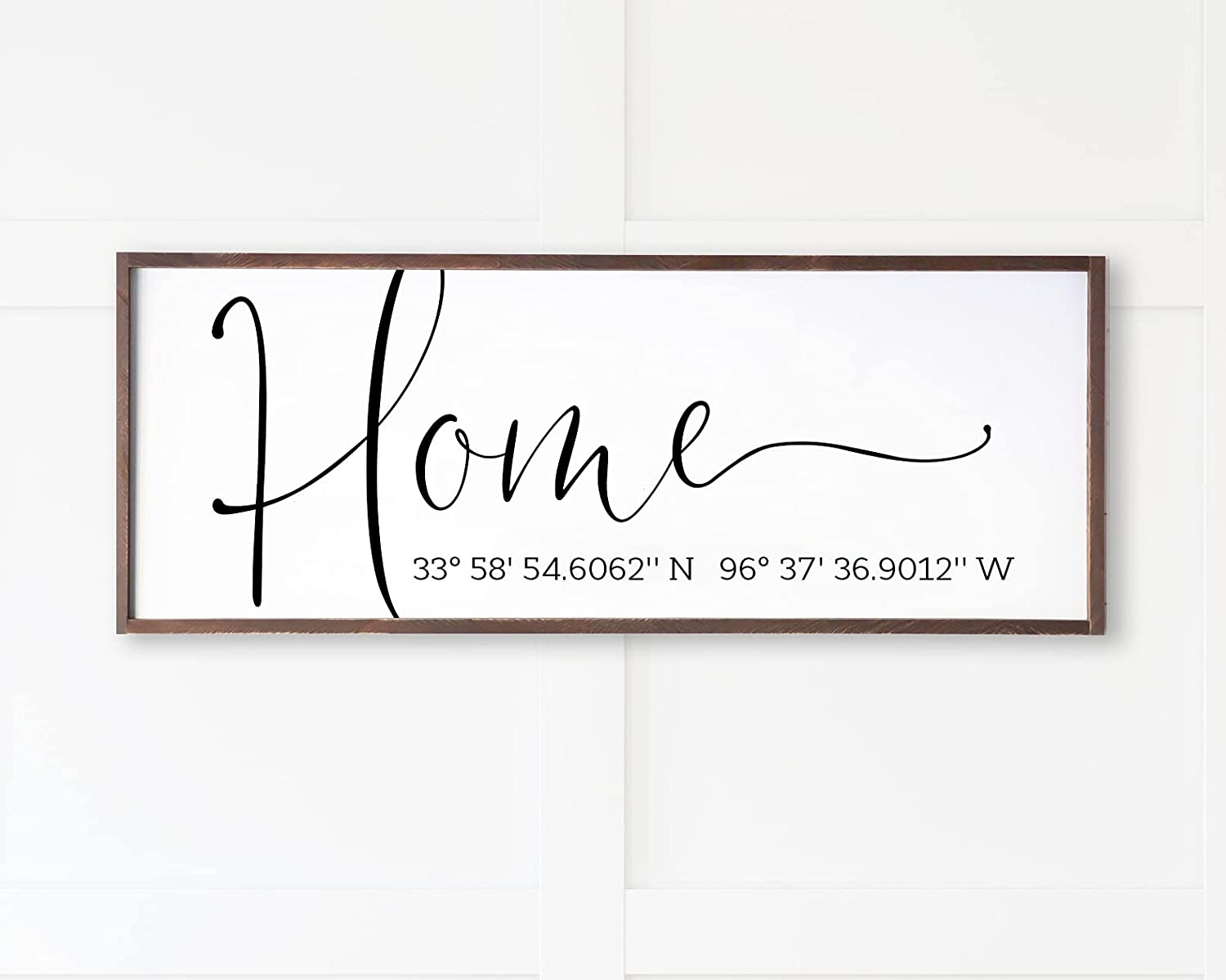 Personalized Max 54% OFF Housewarming Gift LAT famous Farmhous Sign Modern LONG
