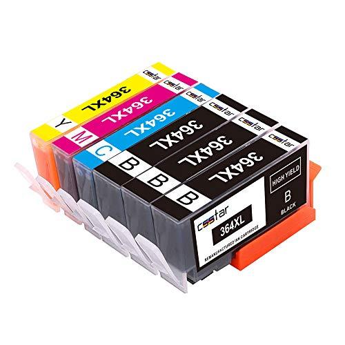 CSSTAR Kompatibel Tintenpatronen Ersatz für HP 364 XL364XL Druckerpatronen Multipack für Photosmart 5520 5510 5524 B109a Plus B210a, OfficeJet 4620, DeskJet 3520 Drucker - Schwarz, Cyan, Magenta, Gelb