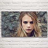 nr Modern Girl Cara Delevingne Star Poster Leinwand und