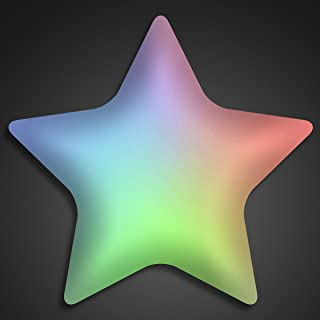 Aurora Color Changing LED Star Light Up Body Lights Lapel Pins (25-Pack)