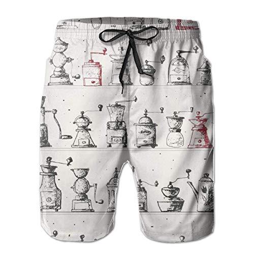 Love girl Pantaloncini da Spiaggia per Uomo Quick Dry Macinacaffè Fodera in Mesh Bauli da Surf con Tasche, Dimensioni XXL