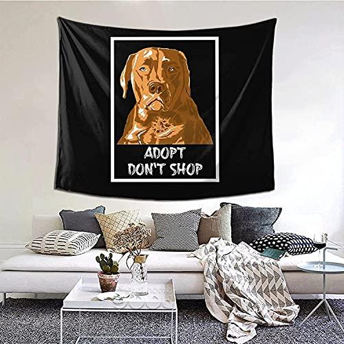 Bonita Camiseta Para Perros Con Tapiz Impreso Con Diseño Adopt Don'T Shop, Tapiz Elegante, Tapiz Para Colgar En La Pared, Decoración Del Hogar, Mantel Extra Grande, Dormitorio
