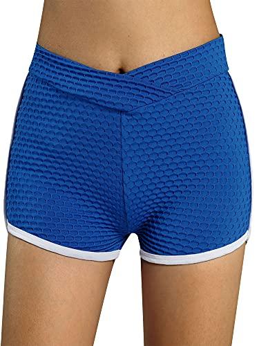 ZZLBUF Pantalones cortos de yoga para mujer de verano, pantalones cortos atléticos de baile, gimnasio, entrenamiento, cintura elástica