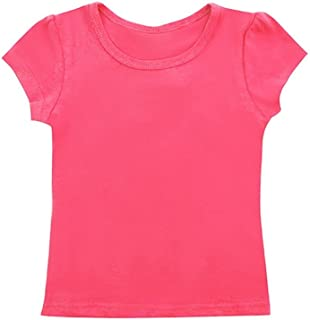 Cutie Patootie Girls Heather Mix T-Shirt with Heart Rhinestones