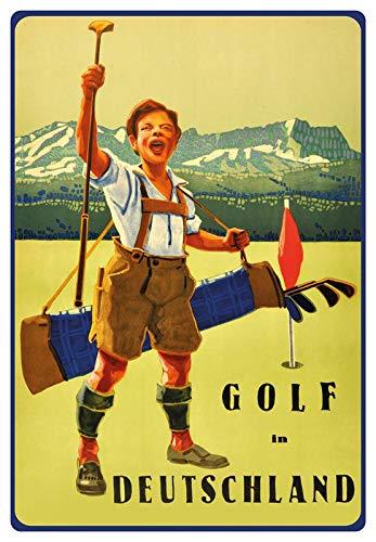 Metalen bord 20x30cm reclame affiche Golf in Duitsland nostalgie metalen bord