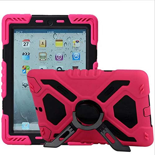 WLWLEO para iPad2 / 3/4 Funda, Todo Incluido 3 en 1 Funda Protectora Resistente de Goma de Silicona Blanda a Prueba de Golpes con Soporte,7,iPad2/3/4