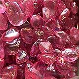 U/D Colorido Aura Cubierto Cuarzo Cuarto S Piedras Cristales Naturales Gemas Piedras Decorativas Joyería de Cristal (Color : Rosado, Size : 300g)