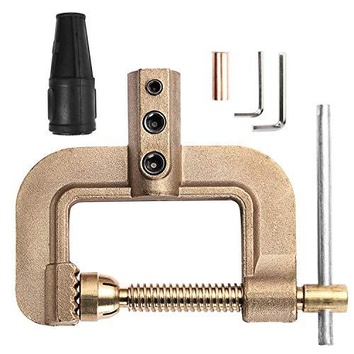 HZXVOGEN Welding Ground Clamp 400A G Styles Earth Clamp for Tig Mig Stick Welder Machines - Solid Brass 0.75kg