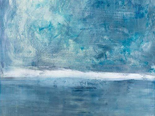 DMPro Original Sky Sea Canvas Painting Large Sky and Sea Painting Sea Blue Level Pintura al óleo Large Wall Art, Marine Landscape Painting 60x80cm Sin Marco
